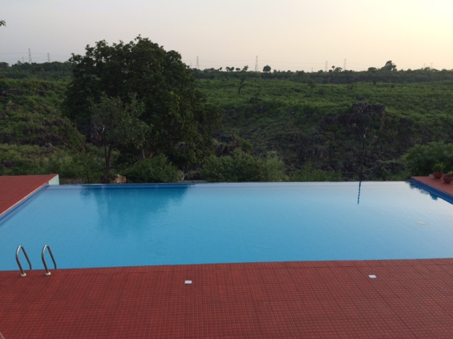 swimming pool on the edge of the hill top, jabalpur